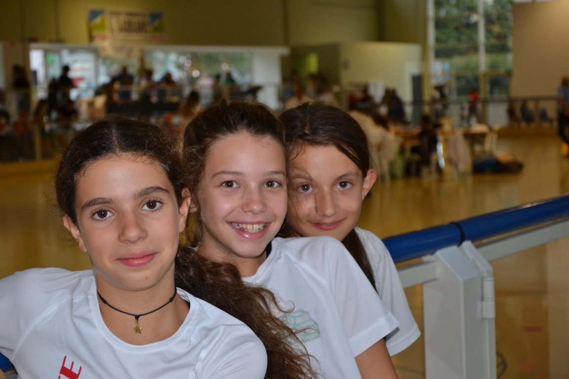 Esordienti da sn Corradini Nina ,Napolitano Matilde e Giorgia Stetco